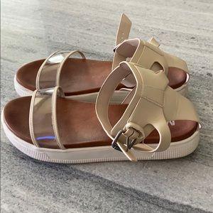 Mia Ellen Ankle Strap Sandal Clear Size